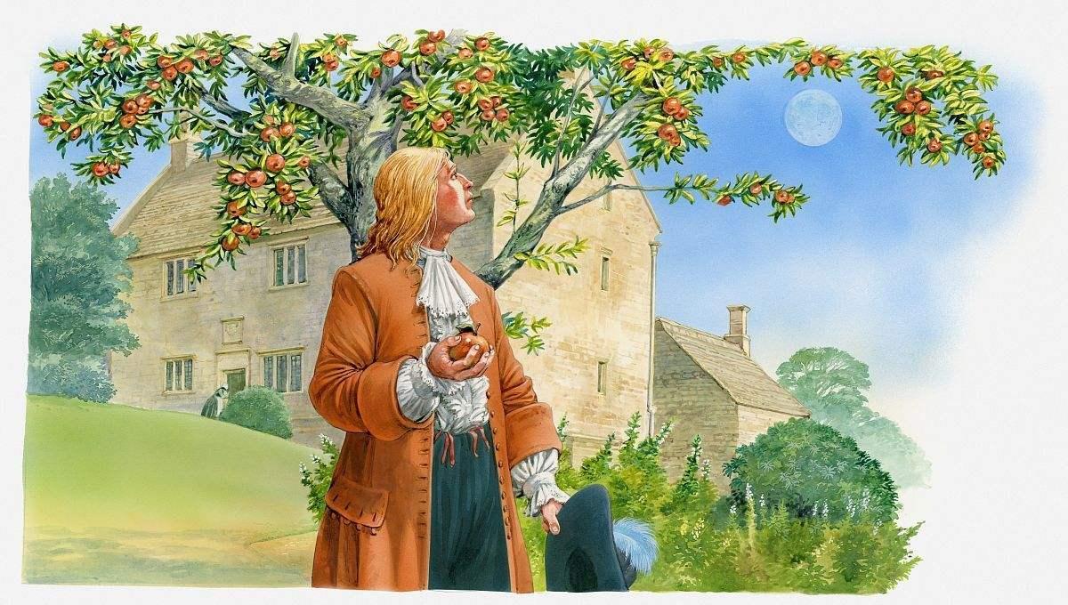 牛顿苹果发现万有引力定律